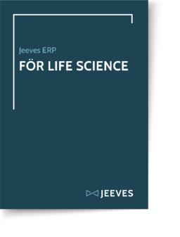 Jeeves ERP för Life Science Cover